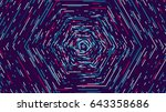 Color Hexagonal Cyber Tunnel ...