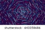 color hexagonal cyber tunnel ... | Shutterstock .eps vector #643358686