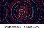 color circle cyber tunnel ... | Shutterstock .eps vector #643358692