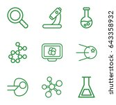 research icons set. set of 9... | Shutterstock .eps vector #643358932