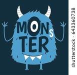 monster print design with... | Shutterstock .eps vector #643360738
