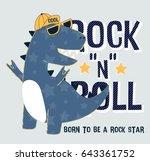 dinosaur illustration vector... | Shutterstock .eps vector #643361752