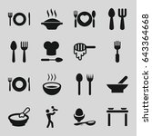 spoon icons set. set of 16... | Shutterstock .eps vector #643364668