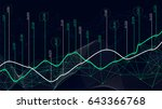 digital analytics concept  data ... | Shutterstock .eps vector #643366768