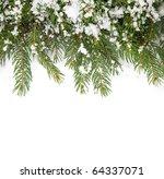christmas framework with snow... | Shutterstock . vector #64337071
