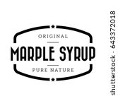 marple syrup vintage sign vector | Shutterstock .eps vector #643372018