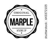 marple syrup vintage sign vector | Shutterstock .eps vector #643372105
