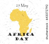 africa day  25th of may concept ... | Shutterstock .eps vector #643372792