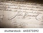 John Hancock Signature On The...