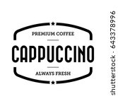 coffee cappuccino vintage stamp | Shutterstock .eps vector #643378996