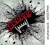 abstract vampire grunge... | Shutterstock .eps vector #64337944
