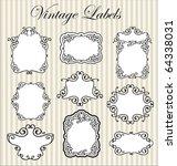 vintage labels set | Shutterstock .eps vector #64338031