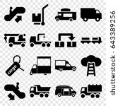 moving icons set. set of 16... | Shutterstock .eps vector #643389256