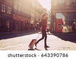 woman tourist walking with...   Shutterstock . vector #643390786