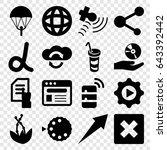 application icons set. set of... | Shutterstock .eps vector #643392442