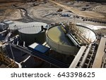 processing plant at galaxy... | Shutterstock . vector #643398625