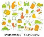eid mubarak or idul fitri... | Shutterstock .eps vector #643406842