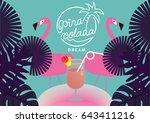 summer promotion template  ... | Shutterstock .eps vector #643411216