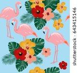 vector illustration of seamless ... | Shutterstock .eps vector #643415146