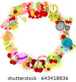 the frame that is made with... | Shutterstock .eps vector #643418836