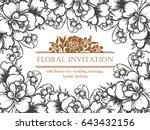 vintage delicate invitation... | Shutterstock .eps vector #643432156