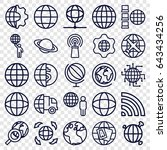 globe icons set. set of 25... | Shutterstock .eps vector #643434256