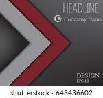 red dark banner wallpaper... | Shutterstock .eps vector #643436602
