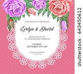 wedding invitation template... | Shutterstock .eps vector #643450612