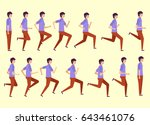 running man for animation 14... | Shutterstock .eps vector #643461076