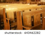 Wooden Benches In An Old...