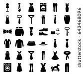dress icons set. set of 36... | Shutterstock .eps vector #643468096