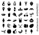 fresh icons set. set of 36... | Shutterstock .eps vector #643469812