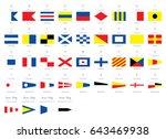 international maritime signal... | Shutterstock .eps vector #643469938