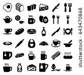 breakfast icons set. set of 36... | Shutterstock .eps vector #643470868