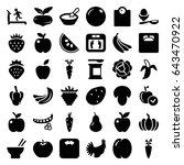 diet icons set. set of 36 diet...   Shutterstock .eps vector #643470922