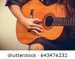 music hobby people concept.... | Shutterstock . vector #643476232
