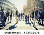 crowd of anonymous people... | Shutterstock . vector #643481476