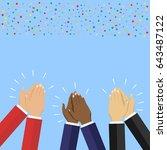 human hands clapping. flat... | Shutterstock .eps vector #643487122