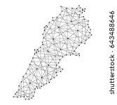 map of lebanon from polygonal... | Shutterstock .eps vector #643488646
