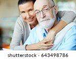 devoted senior spouses looking... | Shutterstock . vector #643498786