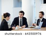 young specialist answering... | Shutterstock . vector #643500976