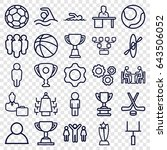 team icons set. set of 25 team... | Shutterstock .eps vector #643506052