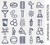 chemistry icons set. set of 25... | Shutterstock .eps vector #643507156