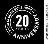 20 years anniversary logo... | Shutterstock .eps vector #643507276