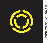 line in circle design logo... | Shutterstock .eps vector #643507546