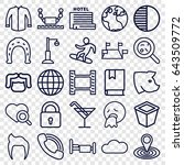 collection icons set. set of 25 ... | Shutterstock .eps vector #643509772