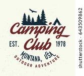 camping club. vector... | Shutterstock .eps vector #643509862