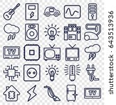 electrical icons set. set of 25 ... | Shutterstock .eps vector #643513936