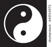 yin and yang icon  vector... | Shutterstock .eps vector #643514572