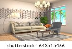 interior living room. 3d... | Shutterstock . vector #643515466
